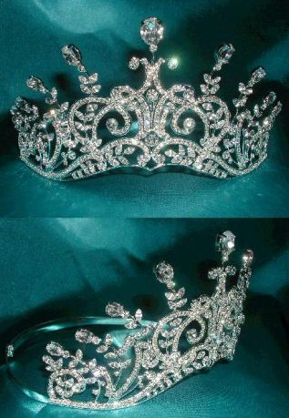 Corona de Cristal Swarovski Leaey-Spray Tiara 1905 English